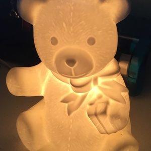 Bone China teddy bear night light but Schmidt 1982